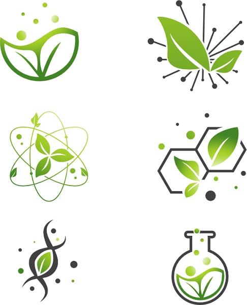 grüne Symbole