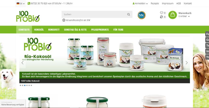 100probio veganer Onlineshop