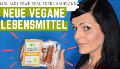 Neue vegane Produkte Supermarkt