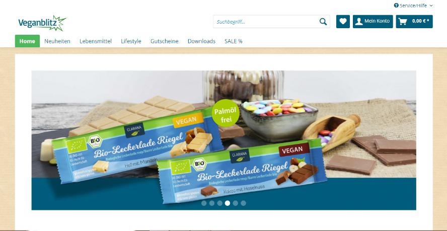 Vegane Onlineshops Veganblitz