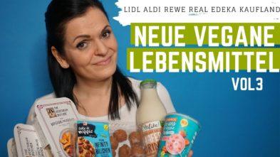 Neue vegane Lebensmittel im Supermarkt