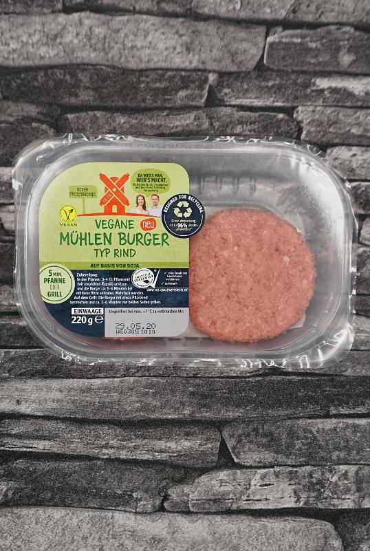 Rügenwalder Mühle vegane Burger Typ Rind