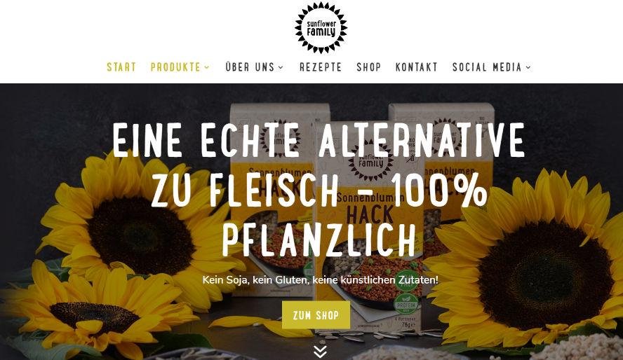 sunflower family onlineshop vegan