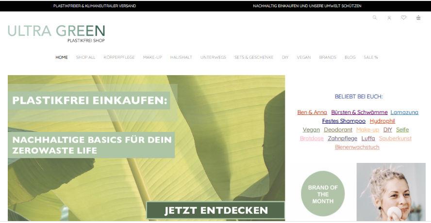 Ultra Green Onlineshop plastikfrei