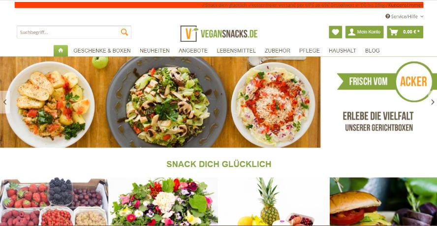Vegansnacks Onlineshop vegan