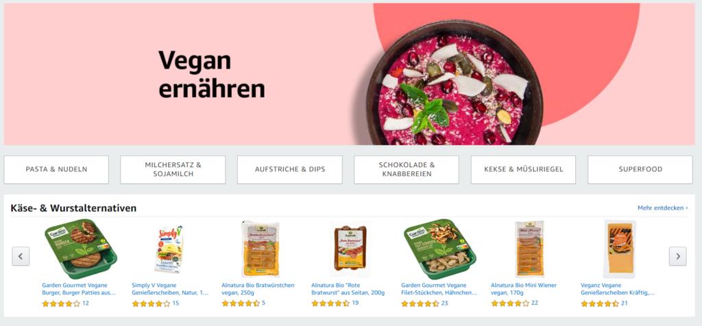 Amazon Fresh vegane Produkte
